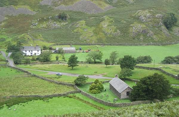 Martindale - St Martin's Church. Pic by Ann Bowker 14-09-04.