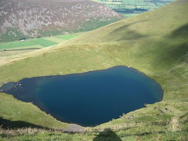 image of aerial view of Bowscale Tarn near Mungrisdale in Cumbria