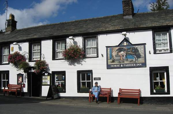 image of the The Horse & Farrier Inn in Threlkeld village in the Lake District