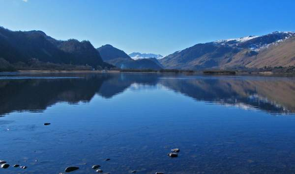 image of derwentwater lake with the borrowdale fells behind