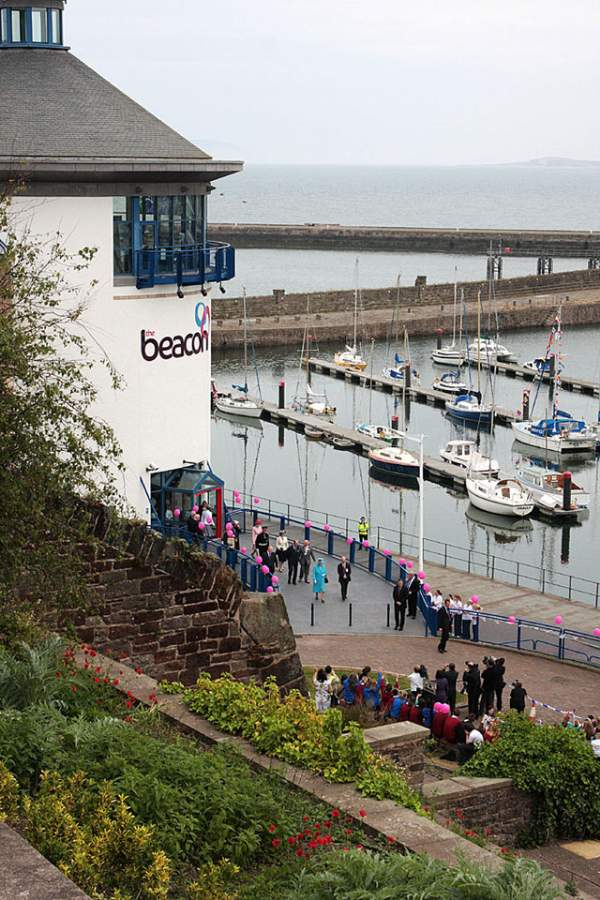 image of the exterior of The Beacon Museum and Whitehaven harbour