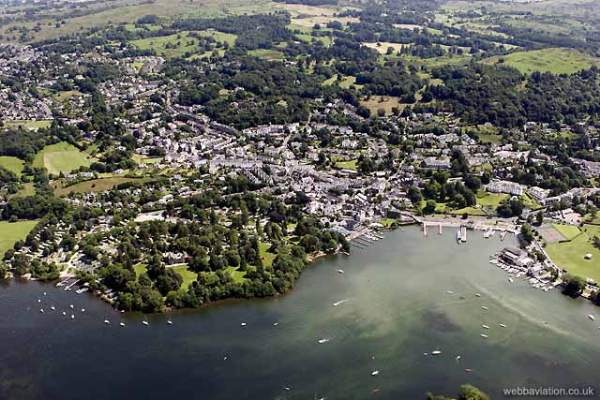 bowness-on-windermere aerial photo