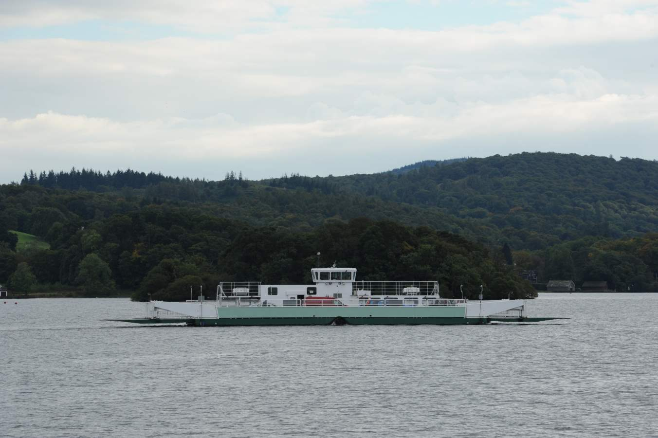 image of a car ferry on lake windermere