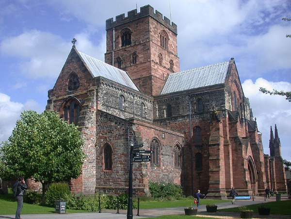 image of exterior of Carlisle Cathedral. Pic N6556.