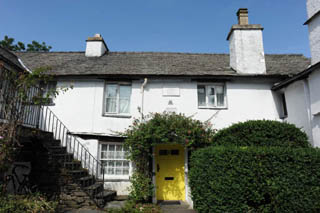 an image of Ann Tyson's cottage in Hawkshead where William Wordsworth lodged