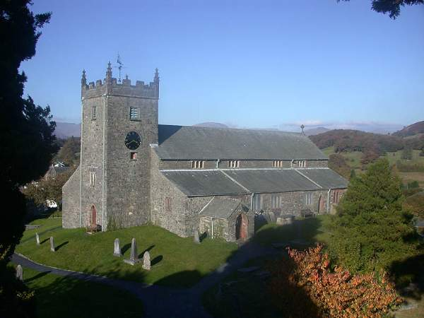 Hawkshead - St Michael & All Angels' Church. Pic N5116