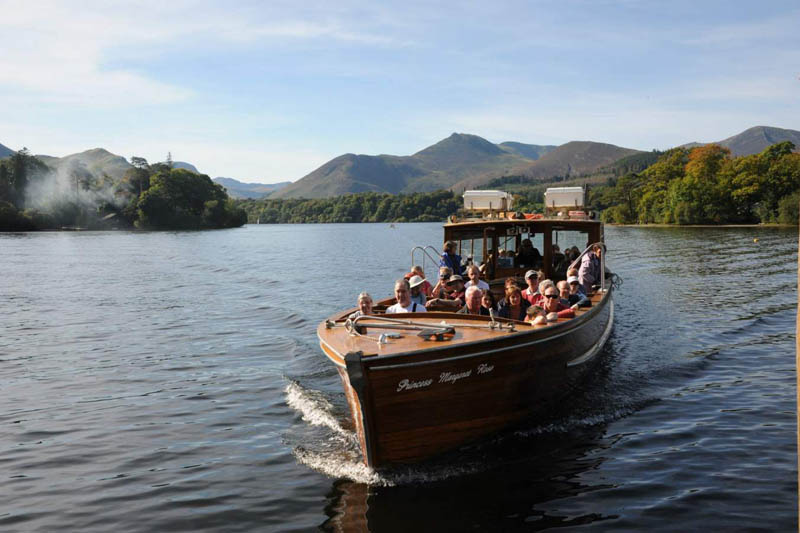 image of keswick launch on derwentwater