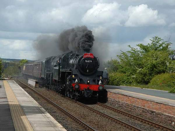 Langwathby Station - Steam Special - 21 May 2005. Pic C0024.