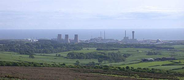 The Sellafield Nuclear Site seen From the Cold Fell Road.