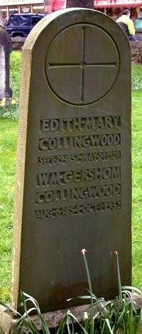 Collingwood's grave at Coniston