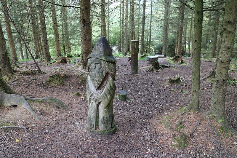 childrens' play area in Whinlatter Forest