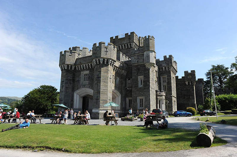 image of the exterior of wray castle, windermere, lake district