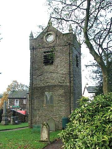 Staveley - St Margaret's Church tower.