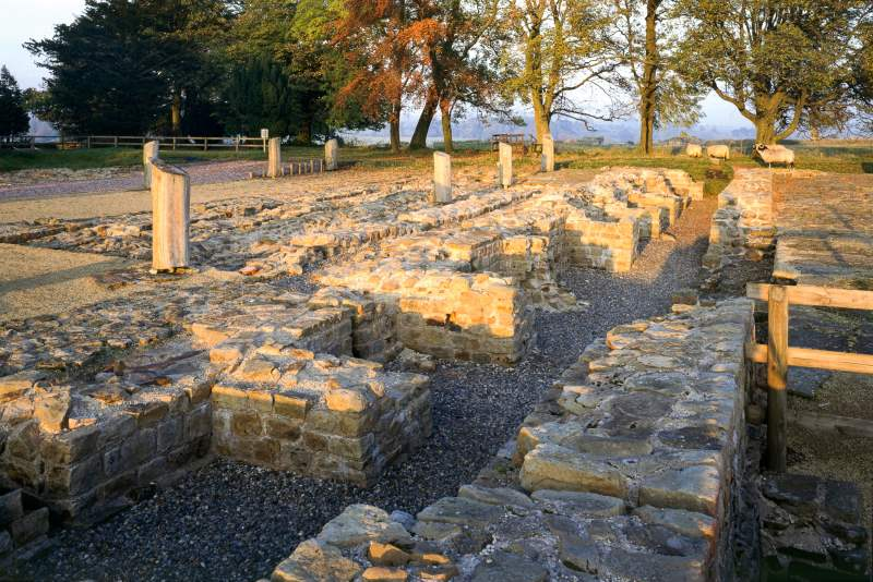 image of Birdoswald Roman Fort near Brampton in Cumbria