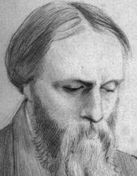 Burne-Jones portrait drawn by George Howard, 9th Earl of Carlisle