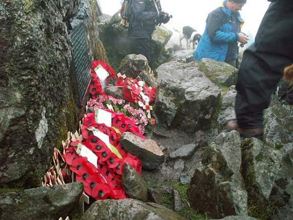 Memorial ceremony on Great Gable