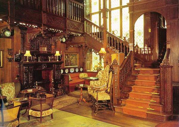 image of interior and staircase at the Langdale Chase Hotel