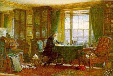 John Ruskin in his study at Brantwood, 1881, by W G Collingwood