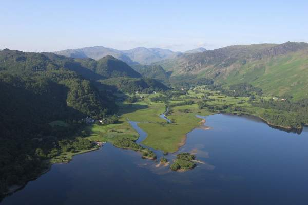image of an aerial view of Derwentwater and the Borrowdale valley