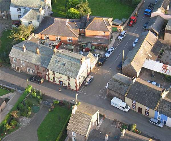 image of aerial view of the centre of Bowness-on-Solway in Cumbria