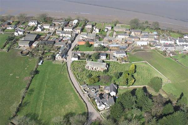 image of aerial view of Bowness-on-Solway in Cumbria