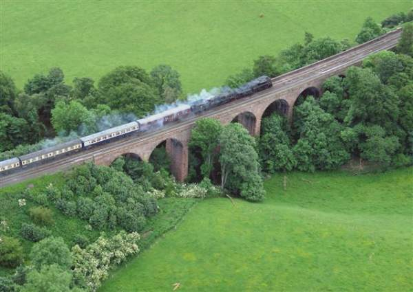 Armathwaite Viaduct - Steam Special 25 June 2005.