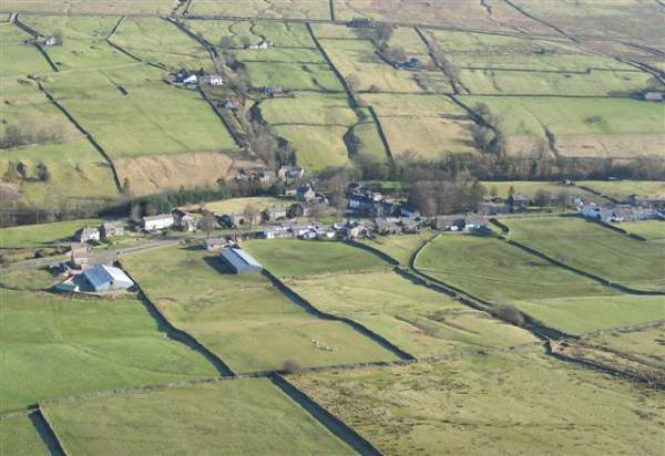 image of aerial view of Garrigill village