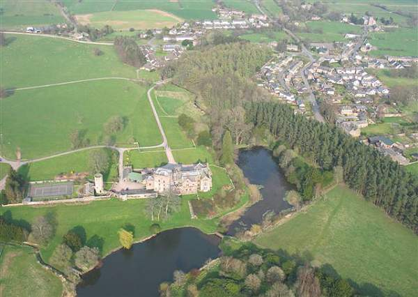 image of an aerial view of Greystoke Village in Cumbria