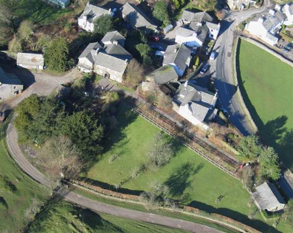 aerial image of hill top, beatrix potter's home in the lake district