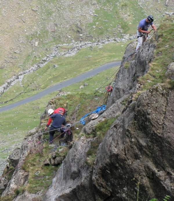 Via Ferrata at Honister slate mine
