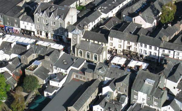 image of an aerial view of keswick tourist information centre
