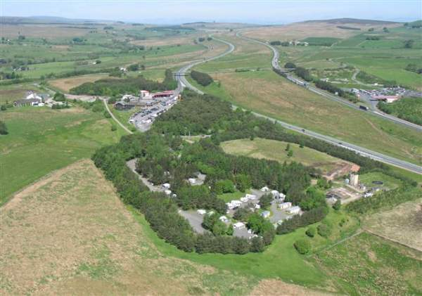 image of an aerial view of Tebay Services on the M6