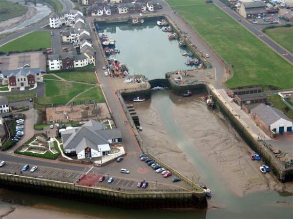 image of an aerial view of Maryport Aquarium