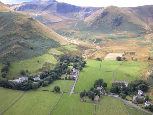image of aerial view of Mungrisdale in Cumbria