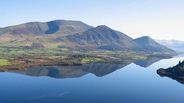 Skiddaw, Ullock Pike, and Dodd.