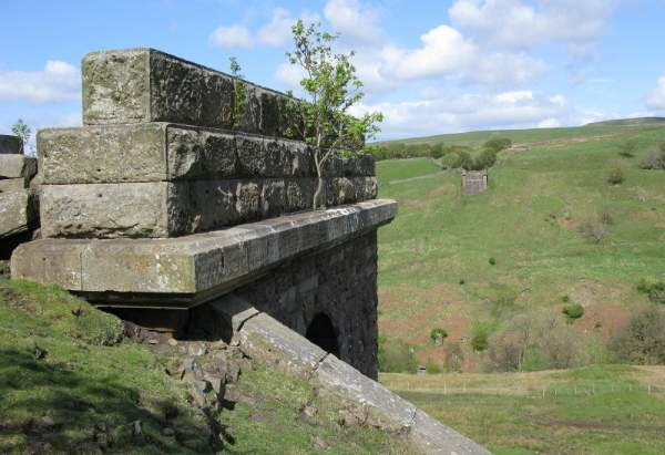 All that remains of the Belah viaduct at Stainmore