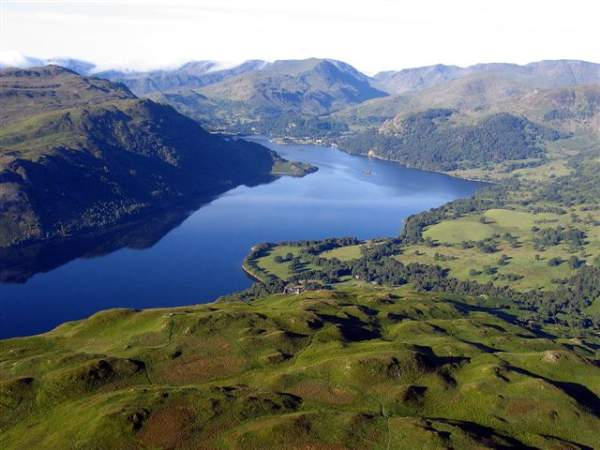 image of Ullswater lake in the Lake District, view looking South West