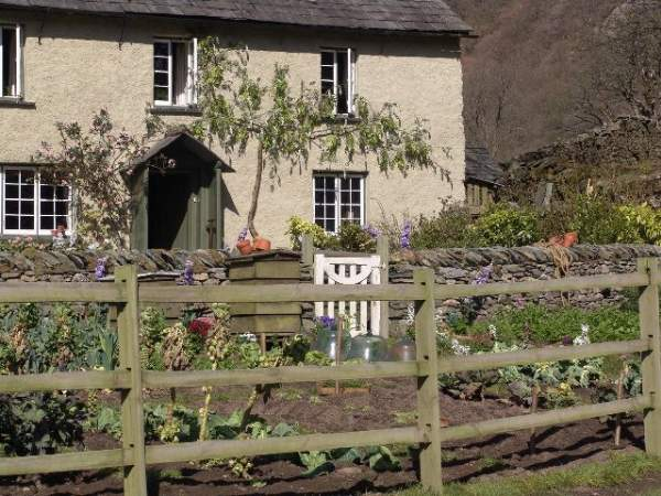 an image of yew tree farm at coniston, a film location for Miss Potter, a beatrix potter film made in the lake district