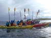 Sea kayaking off west coast of Scotland with Bassenfell Manor Christian Centre