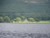 Looking across Bassenthwaite Lake to St Bega\'s Church.