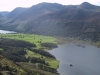 The flat land between Buttermere and Crummock Water from Rannerdale Knotts summit.