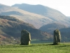 Castlerigg Stone Circle, Keswick.  Looking to Helvellyn.