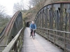 """Bowstring bridge over the River Greta, and """"Little Tunnel""""."""