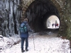 """Looking back though the """"Little Tunnel"""" (bridge 72)."""