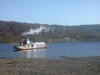 Coniston - Steam Yacht Gondola heading to Brantwood.