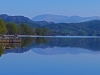 The Eastern Fells of Fairlield & Helvellyn dominate the views at the head of Coniston Water.