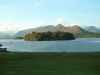 Derwent Isle from Lakeside with Catbells behind.