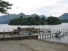 Derwentwater from the Lakeside boat landings looking towards Derwent Isle and Catbells