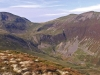 Force Crag Mine. Coledale Hause and Force Crag from Outerside.