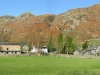 The Langdale Pikes, and the New Dungeon Ghyll Hotel